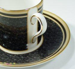 ウエッジウッド クリオ カップ&ソーサー ボンド ブラックダマスク