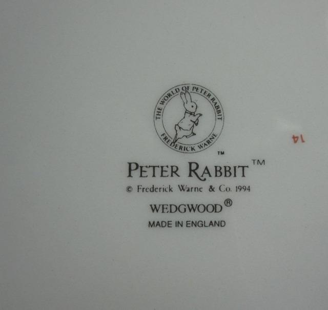 ウェッジウッド  ピーターラビット 1995年カレンダープレート 英国製 MADE IN ENGLAND【ウェッジウッド廃盤品/個数限定】
