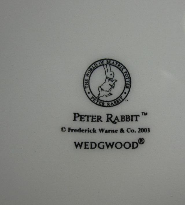 ウェッジウッド  ピーターラビット 2003年クリスマスプレート 【ウェッジウッド廃盤品/個数限定】
