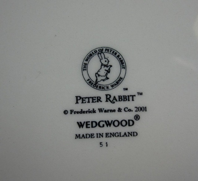 ウェッジウッド  ピーターラビット 2002年バースデープレート 英国製 MADE IN ENGLAND【ウェッジウッド廃盤品/個数限定】