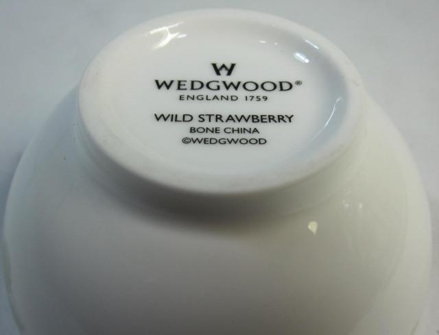 ウェッジウッド Wedgwood ワイルドストロベリー ノーゴールド ティーボウル 【アウトレット品】