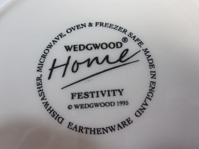 ウェッジウッド Wedgwood フェスティビティ アイボリー 23cmスーププレート