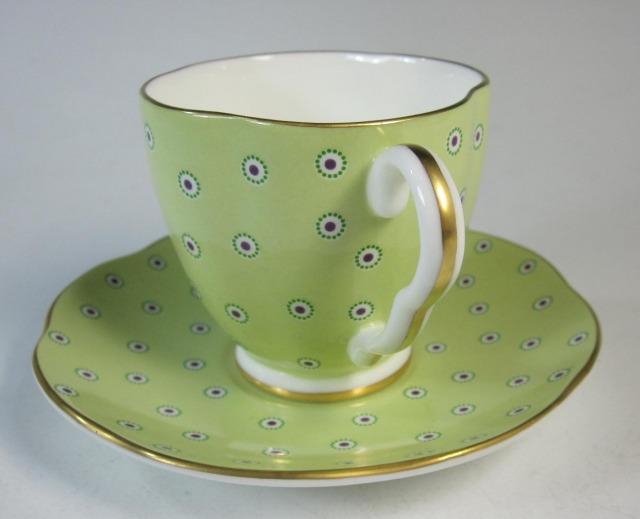 ウェッジウッド Wedgwood ハーレークイーンコレクション ポルカドット コーヒー カップ&ソーサー グリーン