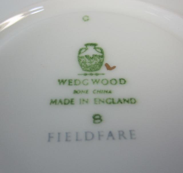 ウェッジウッド Wedgwood フィールドフェアーターコイス ティーカップ&ソーサー リー【ウェッジウッド廃盤品/個数限定】