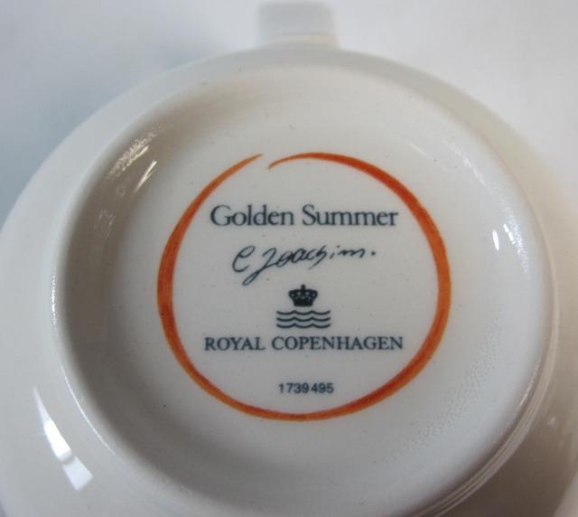 ロイヤルコペンハーゲン Royal Copenhagen ゴールデンサマー マグカップ【ロイヤルコペンハーゲン廃盤品/新品】
