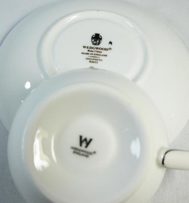 ウェッジウッド Wedgwood ドルフィンホワイト ティーカップ&ソーサー リー【ウェッジウッド廃盤品/個数限定】
