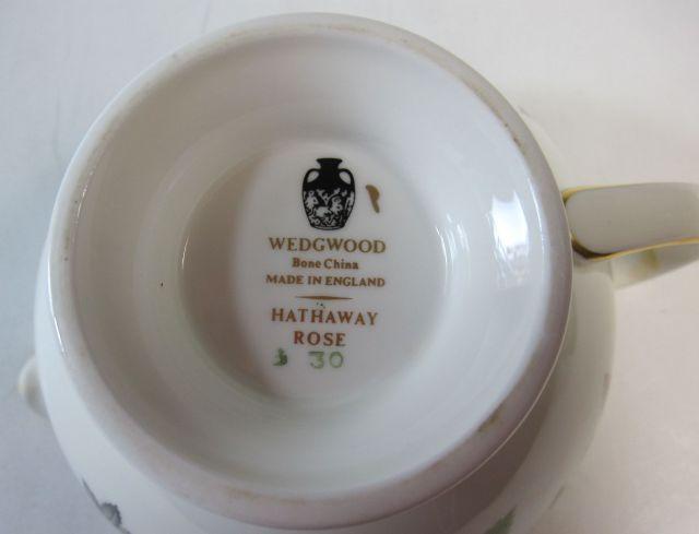 ウェッジウッド Wedgwood ハザウェイローズ  ミルクピッチャー クリーマー 【ウェッジウッド廃盤品/個数限定】