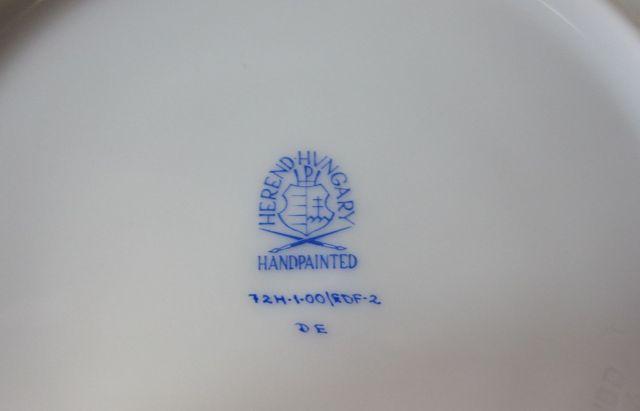 【50%オフ】ヘレンド Herend フルーツエスキース ティーカップ&ソーサー (プルーン) 724 【一点限りの激安!】