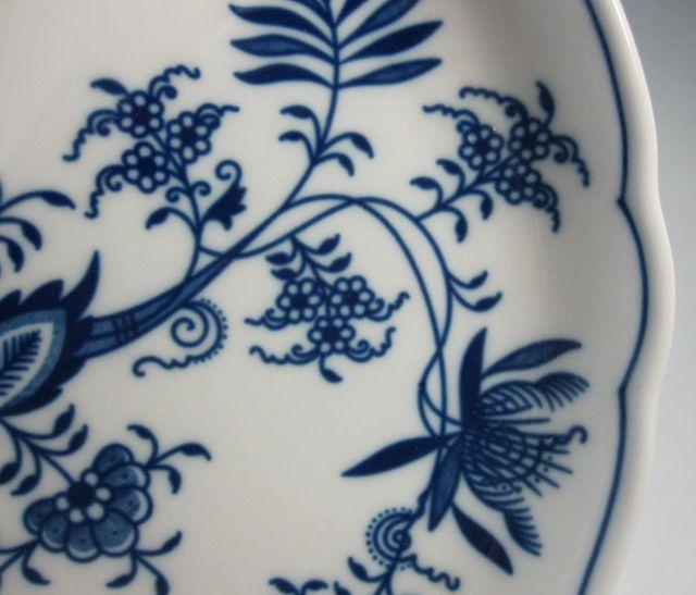 カールスバード ブルーオニオン 22cm クレセント皿