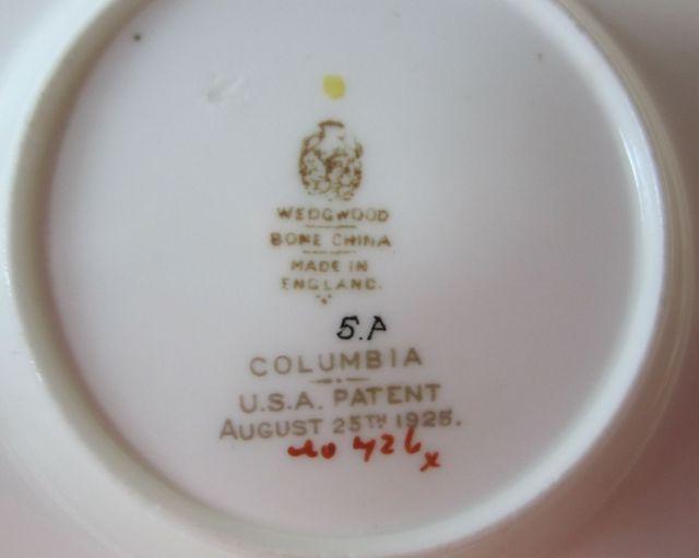 ウェッジウッドWedgwood  コロンビアアイボリー  カップ&ソーサー  ボンド 【アンティーク ウェッジウッド/個数限定】