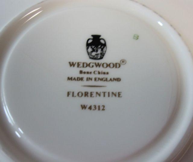 ウェッジウッド Wedgwood  フロレンティーンブラック  カップ&ソーサー リー【ウェッジウッド廃盤品/個数限定】