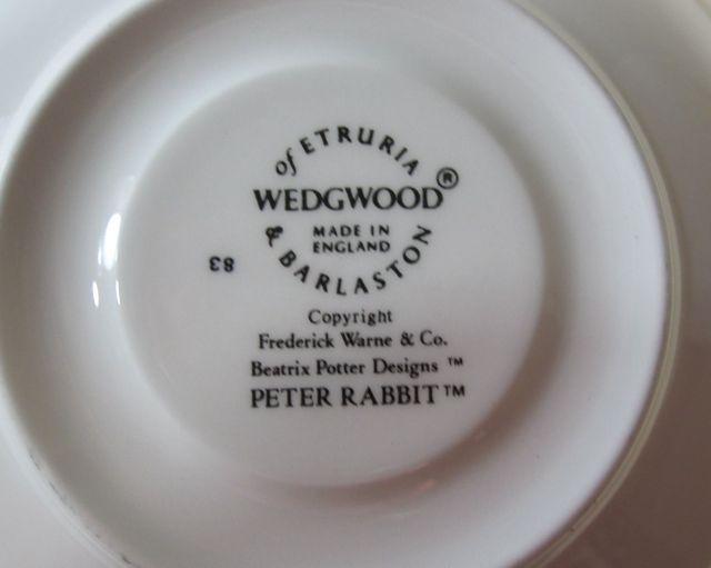 ウエッジウッド Wedgwood ピーターラビット オリジナル ティー カップ&ソーサー 【ウェッジウッド廃盤品/個数限定】