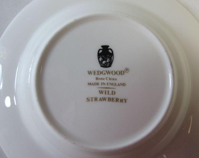 ウェッジウッドWedgwood ワイルドストロベリー ラウンド アシュトレー 灰皿【ウェッジウッド廃盤品/個数限定】
