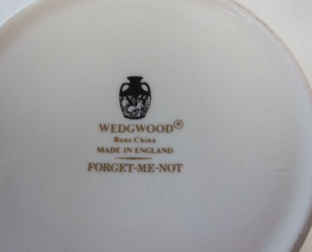 ウェッジウッドWedgwood  フォーゲットミーノット  ティーカップ&ソーサー【ウェッジウッド廃盤品/個数限定】