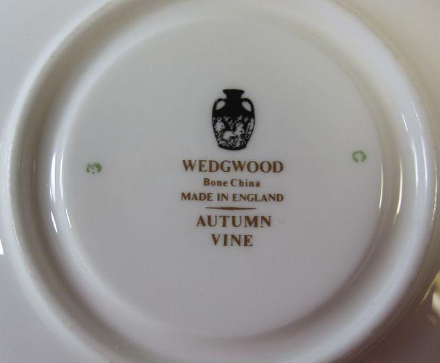 ウェッジウッドWedgwood  オータムバイン  カップ&ソーサー  リー【ウェッジウッド廃盤品/個数限定】