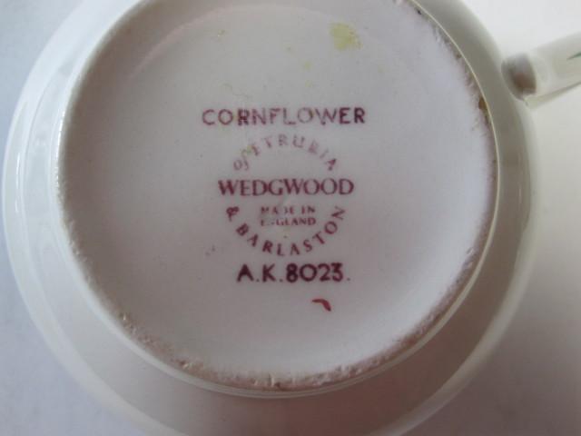 ウェッジウッド Wedgwood コーンフラワー  ティーカップ&ソーサー【アンティーク ウェッジウッド/個数限定】