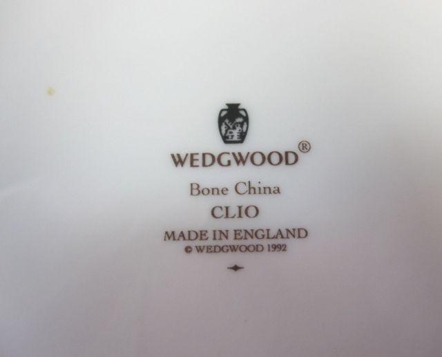 ウェッジウッドWedgwood クリオ  20cmプレート フルリムボーダー 【ウェッジウッド廃盤品/個数限定】