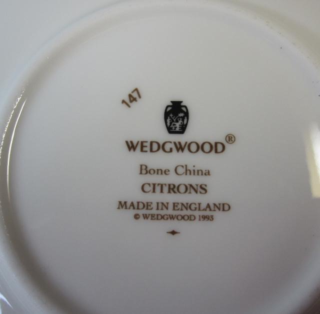 ウエッジウッド Wedgwood シトロン カップ&ソーサー  キャン 【ウェッジウッド廃盤品/個数限定】