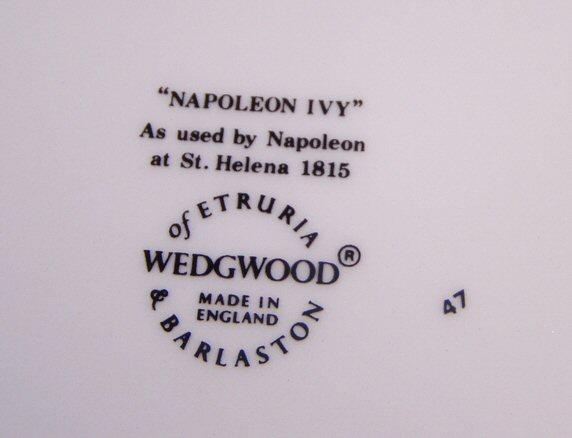 ウエッジウッド Wedgwood ナポレオンアイビー B&Bプレート